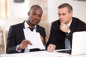 man determining the best healthcare plans with his insurance broker