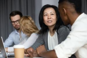 Women talking in Strategic Planning Process