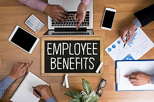 a business conducting employee benefits planning