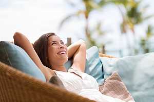 woman relaxing because of the top innovative employee benefits
