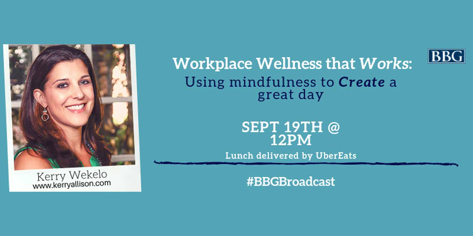BBG Workplace Wellness Webinar Banner