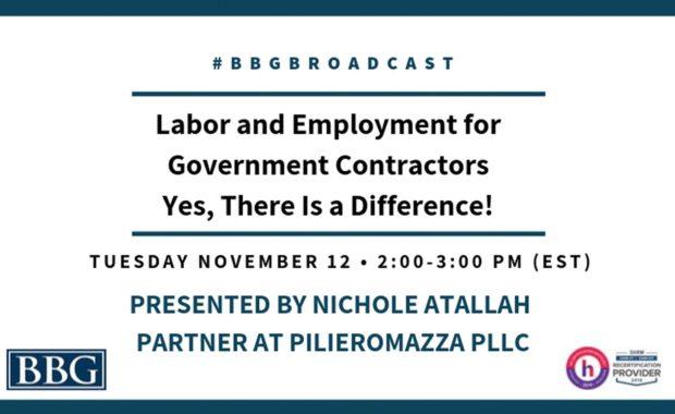 Labor and Employment for Gov Contractors - Nov Webinar