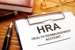Employee signing a HRA for medical expenses