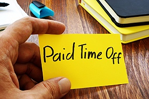 a paid time off slip as part of an employee fringe benefits plan