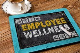 Employee Wellness on chalk board