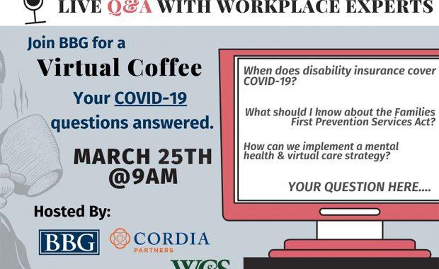 BBG COVID-19 Q&A webinar flyer