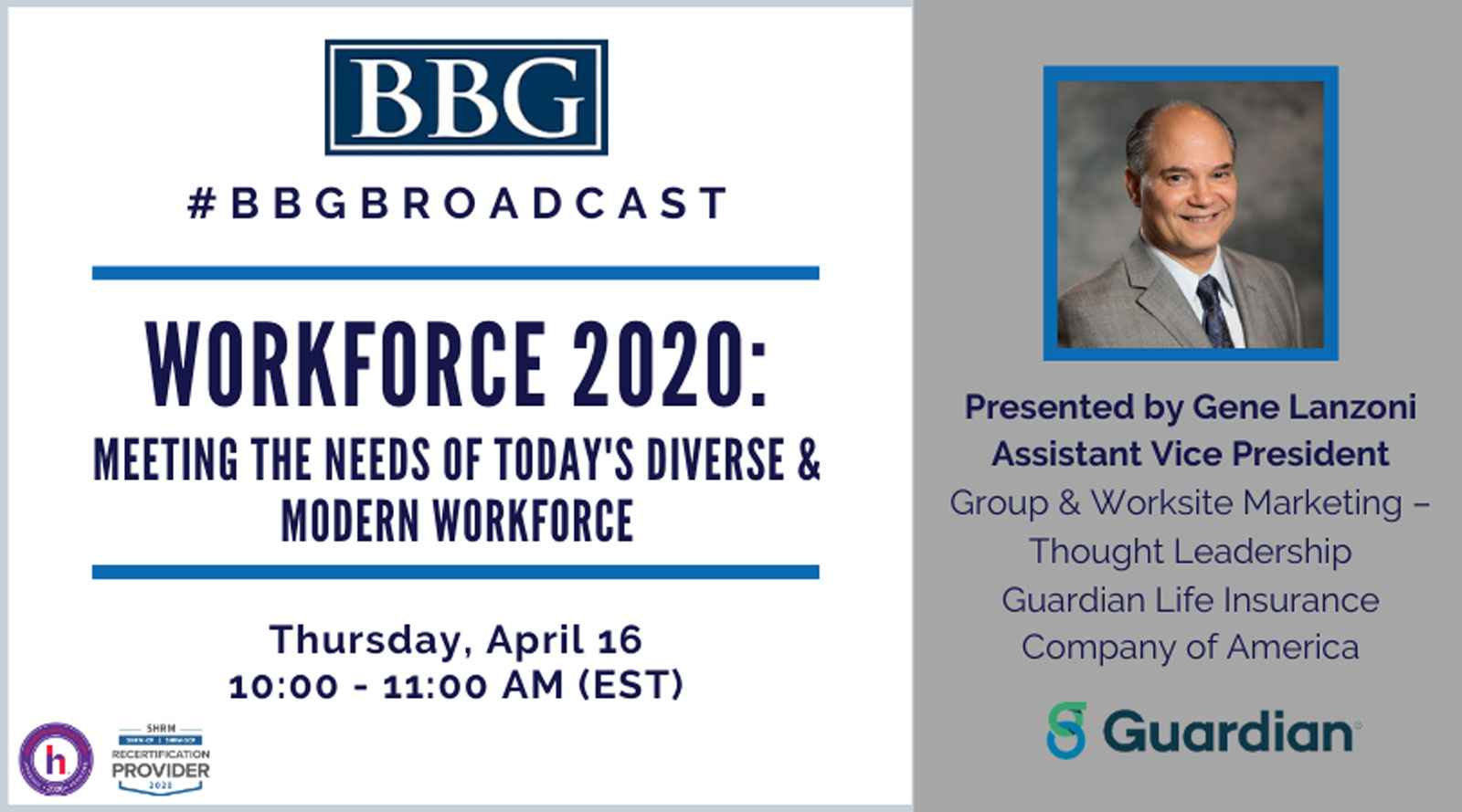 BBG Workforce 2020 webinar flyer