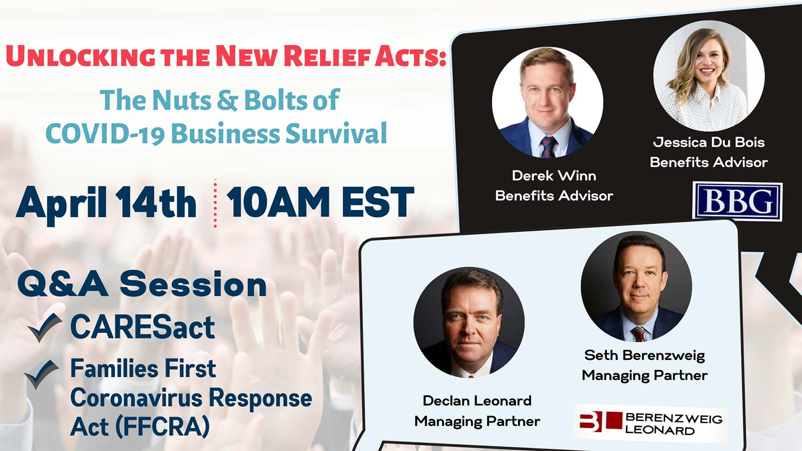 Unlocking the New Relief Acts: The Nuts & Bolts of COVID-19 Business Survival webinar flyer
