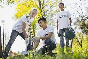 Volunteer from nonprofit organization