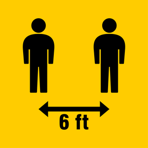 social distancing sign for employee safety