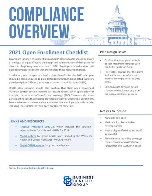 2021 open enrollment checklist thumbnail