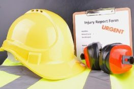 Concept image of Work Place Safety. Long-term disability insurance can provide protection