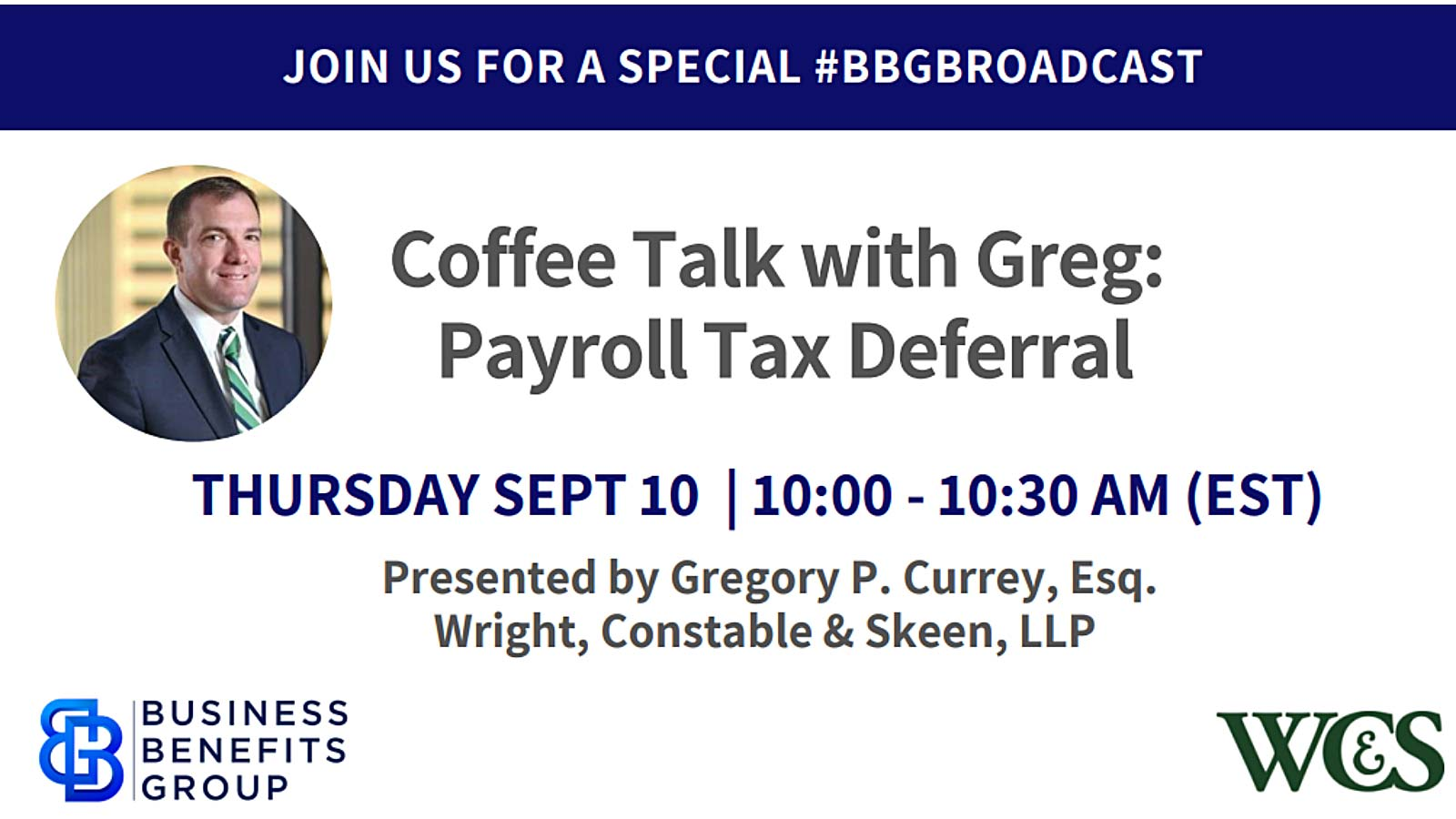 Coffee Talk With Greg: Payroll Tax Deferral