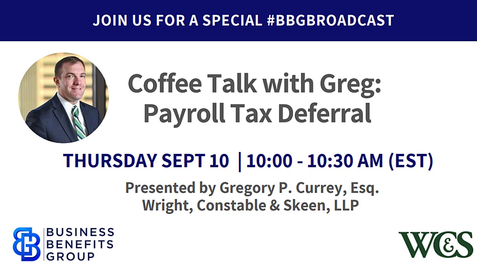 Coffee Talk with Greg webinar