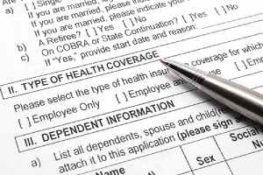 Employee group health insurance application form. Benefits renewals should be conducted annually