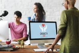 A group of employee of a nonprofit organization. Nonprofits can offer many of the same benefits as for-profits