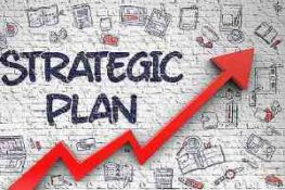 illustration for strategic planning with check mark