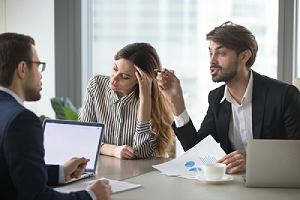 Employee arguing over financial dispute. EPLI Insurance For Nonprofits is a type of liability insurance
