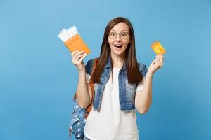 happy employee getting travel stipend