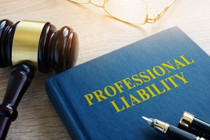 professional liability on a court table